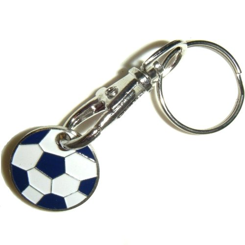 FOOTBALL Footy - Trolley / Locker Tokens Coins on Keyring by Trolley Coins
