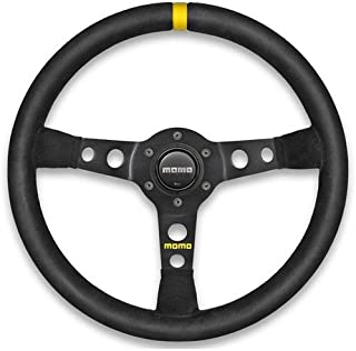 MOMO R1905/35S Mod 07 Steering Wheel Diameter: 350mm/13.78 Black Suede/Black Spo
