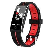 CNZZY smart watch intelligente braccialetto misurazione della pressione sanguigna per donne orologio sportivo cardiofrequenzimetro fitness braccialetto di orologio da polso, verde (rosso)