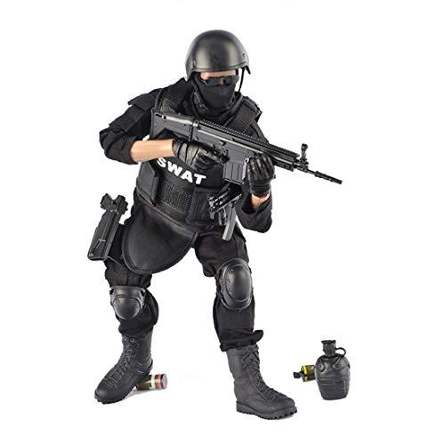 Mecotecn 1/6 Figuras Soldados, 12 Figura de Acción Soldados Figuras Militares Conjuntos de Juegos - SWAT Policía Especial