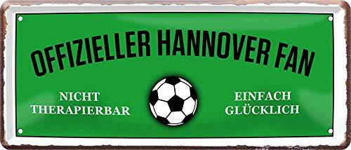 Blechschilder OFFIZIELLER Hannover Fan Metallschild für Fußball Begeisterte Deko Artikel Schild Geschenkidee 28x12 cm