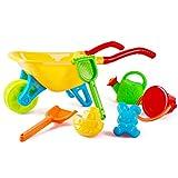 DeAO Set de juego para jardín y playa de carretilla, para actividades al aire libre con accesorios, incluye cubeta, espada, rastrillo , color/modelo surtido