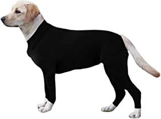 ESHOO Long Sleeves Bodysuit Jumpsuit for Dogs, E Collar Alternative for Recovery,Pet Post Surgery Suit