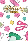 Knitting Journal: Crochet Logbook Yarn Journal to Record Projects and Works-in-Progres For Knitwear Designer, Knitter, Crocheter, Crafter, Hobbyist, Enthusiast