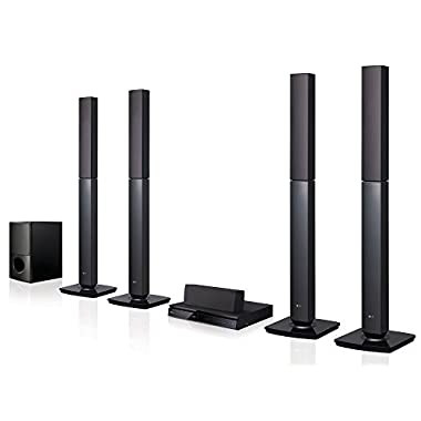 LG LHD657 Bluetooth Multi Region Free 5.1-Channel Home Theater Speaker System w/Free HDMI Cable, 110-240 Volt