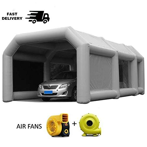 Inflatable Spray Booth Tents Inflatable Paint Inflatable Car Parking Tent Workstation (26×13×10FT), Recommended for Sedan Painting