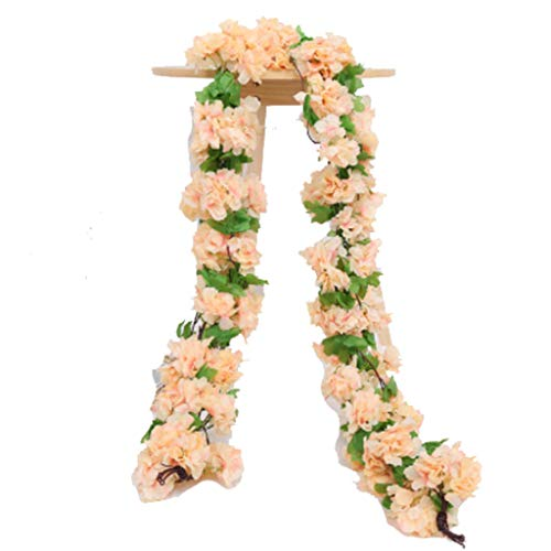 Lingling Artificial Flowers Rose Vine Flowers Plants -Fake Flowers Rose Vine Ivy Garlands Hanging for Wedding Party Garden Wall Decoration Silk Flowers