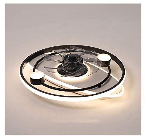 Dormitorio, sala y comedor modernos, sencillos y creativos, equipados con ventiladores eléctricos y ventiladores de techo con atenuación LED integrados con candelabros.