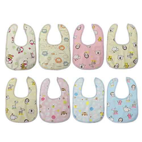 Estilo Al Azar Bebé Babero Terciopelo Impermeable Cuidado Bebé Alimentación Impresión Baberos Toalla Multi Color