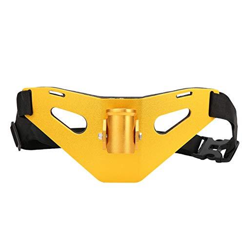 Shipenophy Cinturón de Soporte para caña de Pescar Cinturón de Pesca Cinturón de Lucha para Pesca al Aire Libre para Pescar(Golden)