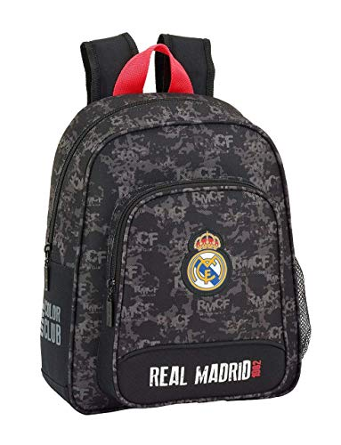 REAL MADRID BLACK Oficial Mochila Escolar Infantil 270x100x330mm