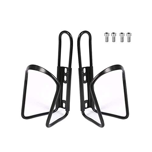 BUCKLOS 【UK STOCK】 2PC Bike Water Bottle Cage, Ultra Lightweight Aluminium Alloy Bicycle Bottle Holder Mount with Screws, Portable Drink Holders for MTB Road Bikes Outdoor Sports