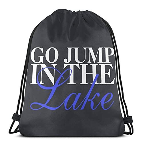 Bolsa de cordón ir saltar en el lago Sackpack cadena Cincha resistente al agua bolsa de playa para gimnasio compras deporte yoga 36*42cm