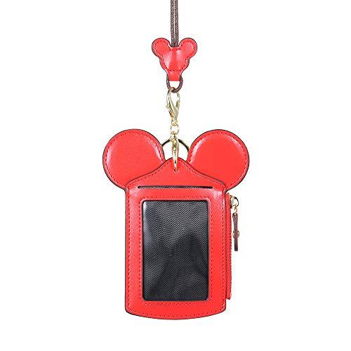 Entweg Titular de la tarjeta de dibujos animados Protector ID Caja de tarjeta de crédito Piel Mini bolsillo delgado Monedero Monedero