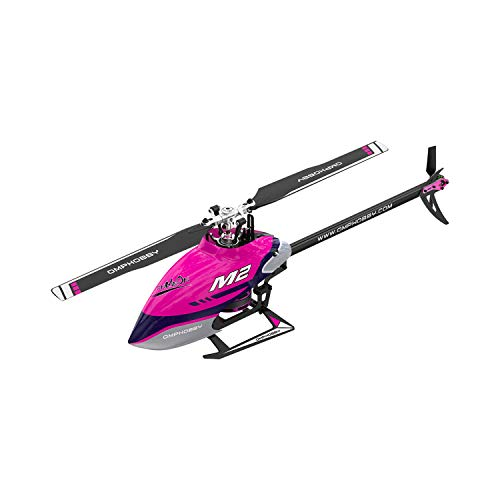 OMPHOBBY M2 V2 Dual-Brushless Motor Direct-Drive 3D Helicopter-BNF (Dull Purple)