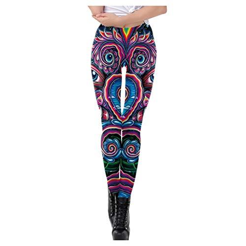 Leggings de Sport pour Femme, Fitness Pantalon, Femmes Mode Taille Haute Yoga Multicolore Imprimer Running Pantalon De Sport Pantalon Pantalons D'athlétisme