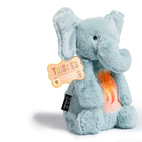 FAO Schwarz 12 Inch Warm Paws Plush Elephant, Microwave Warm-Up Stuffed Animal for Sleepytime with Lavender Aromatherapy, Cuddle and Snuggle Pal with Ultra-Soft Fur