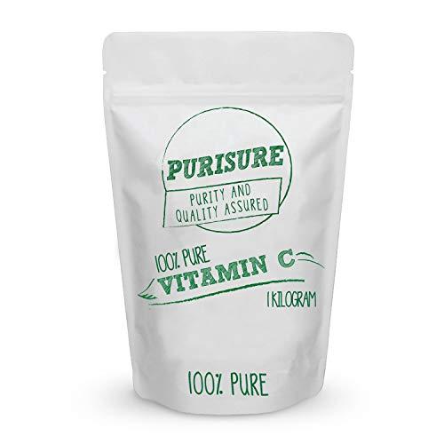 Vitamin C Powder 1kg (1000 Servings), Pure Ascorbic Acid, Common Cold Relief, Immune System Support, DIY Cosmetics for Beautiful Skin, Non GMO, Food Grade