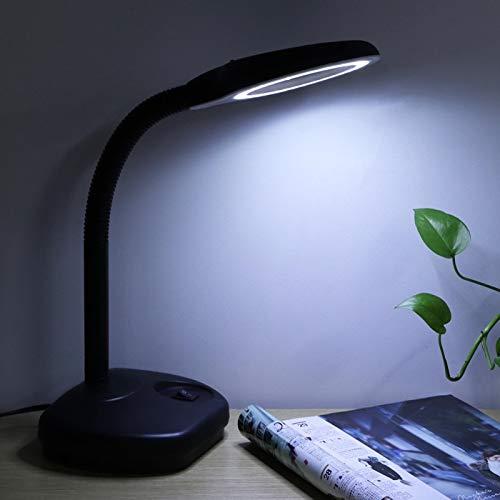 wosume Lámpara de Lectura, lámpara de Lupa Flexible, 40 Piezas de Cuentas LED electrónicas 6.7X5.5X1.6In Ingeniería para Estudiantes de Lectura Lectura(European Standard 220V)