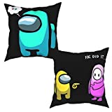 Pillow Covers Set of 4 Amongus He Did It Throw Pillow Covers Pillow Case for Sofa 18'X18'