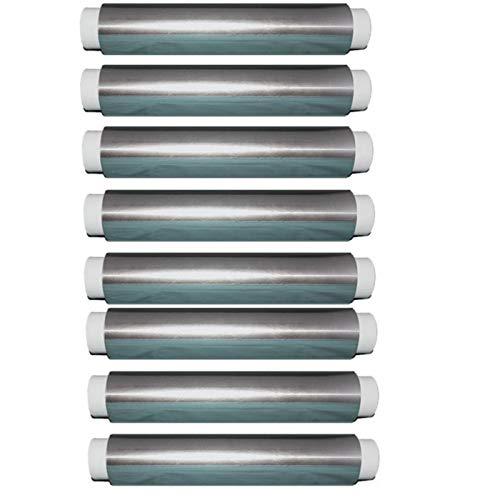 Trendsky 4 Rolle EXTRA STRAK Alufolie 130m x 30cm Rollen Aluminiumfolie 11my Alurolle