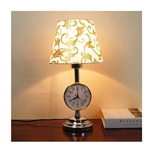 WYZ. Tafellamp - moderne creatieve horloge-bureaulamp, push-button switch/dimmer-afstandsbediening E27 * 1, woonkamer-sofa-studie kind slaapkamer (kleur: dimmer switch)