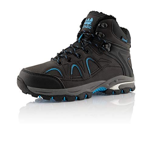 Fusskleidung Damen Herren Outdoor Boots Warm Gefütterte Stiefel Übergrößen Winter Stiefeletten Schuhe Schwarz Blau EU 39