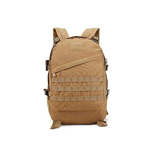 BLACK HAWK COMMANDOS Militär-Rucksack, 40 l, Kampfrucksack Trekking Molle Bug Out Bag, Khaki, 40L