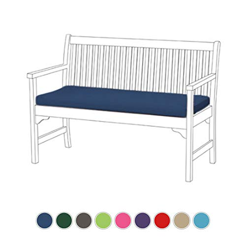 Shopisfy Gardenista Garden Bench Outdoor Pad | Comfortable Lightweight Cushion | Indoor & Outdoors | Water Resistant (Blue)