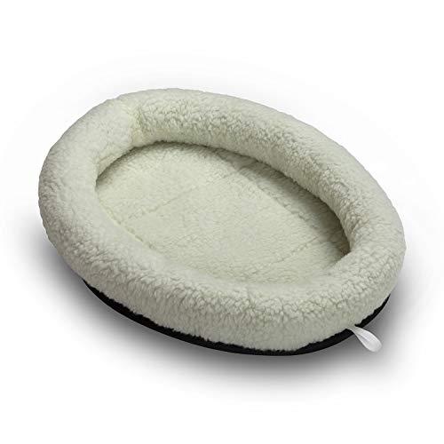Mikki Cat, Kitten Snoozer Pet Bed Pillow - Soft, Warm Plush Material -Machine Washable - Medium
