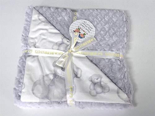LANOVENANUBE - Manta infantil 80x110 OSITO 10342 - Color gris