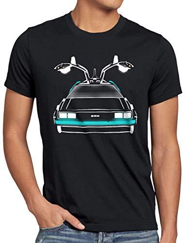 style3 Delorean Speed of Light Herren T-Shirt dmc-12 zeitreise mcfly Auto, Größe:XL