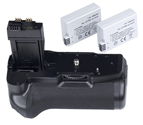 Khalia-Foto Meike Batteriegriff & 2 LP-E8 Akkus für Canon EOS 550D 600D 650D 700D wie BG-E8