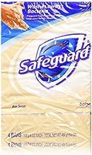 Safeguard Antibacterial Deodorant Soap Beige 16 oz, 4 bars (Pack of 2)