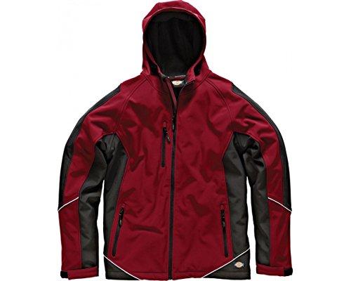 Dickies zweifarbige Softshell Jacke rot/schwarz RDBXXL, JW7010