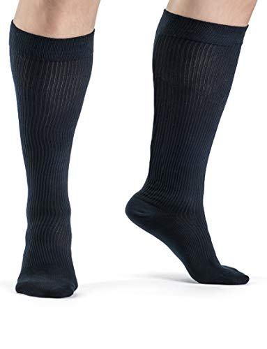 Wide Calf Medical Grade Gradient Compression Socks Men 20-30 mmHg or Women Unisex Organic Cotton Compression Socks Travel Athletes Sports Diabetics (XXX-Large)