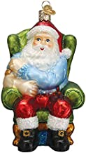 Old World Christmas Ornaments Santa Vaccinated Glass Blown Ornaments for Christmas Tree