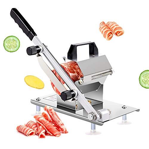 BAOSHISHAN Trancheuse de viande congelée Machine de découpe de viande Trancheuse manuelle de viande de petit pain...