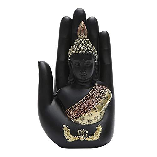 dailymall Estatua de Buda de Resina Escultura China Fengshui Estatuilla Decoración de Gabinete