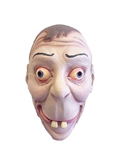 Rubber Johnnies Masque en Caoutchouc Humoristique Geek/Nerd à Grandes Dents pour fête costumée ou Farce