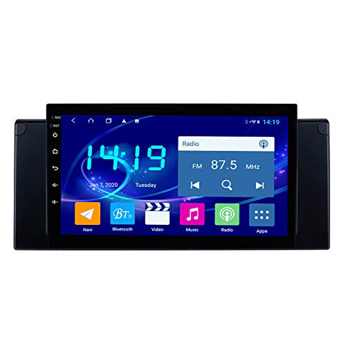 Benature Android Car Stereo Sat Nav para BMW E39 Unidad Principal Sistema De Navegación GPS SWC 4G WiFi BT USB AUX Radio DSP Carplay