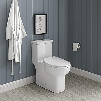 Swiss Madison Well Made Forever SM-1T117 Classe One Piece Toilet Dual Flush 0.8/1.28 gpf, Glossy White
