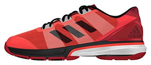 adidas Stabil Boost II, Zapatillas de Balonmano Hombre, Rojo (Rojsol/Negbas/Rojpot), 48