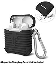 Humble Ultra Protective Soft Silicone Shock Proof Protective Cover Case for Apple AirPods (Black)