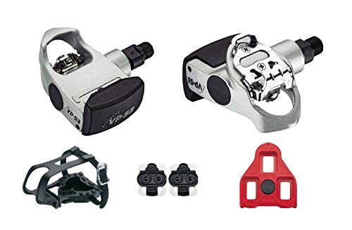 VP-S3 3 in 1 Spin Pedal 9/16ths Compatible with Peloton, Nordic Track and other Spin Bikes, Silver