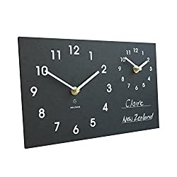 Eco Recycled Dual Time Zone Classic Wall Clock with Chalk