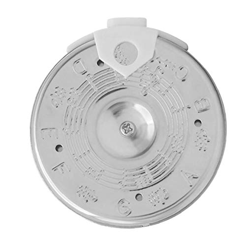 EElabper Pitch Pipe Tuner Chromatic Tuning Tool 13 A003AP PC-C Instrument Accessory for Singers Musicians Silver