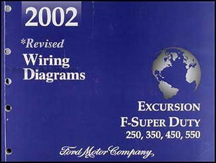 2002 ford excursion super duty f250 f350 f450 f550 wiring diagram manual  paperback – 2003