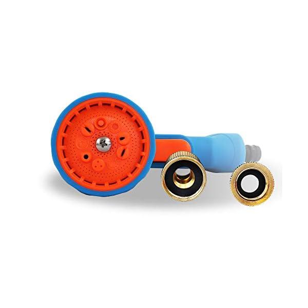GRÜNTEK Manguera de jardín Extensible 22,5 M Cobra Pistola de riego de 10 chorros. Kit Completo y Ligero con Conector…