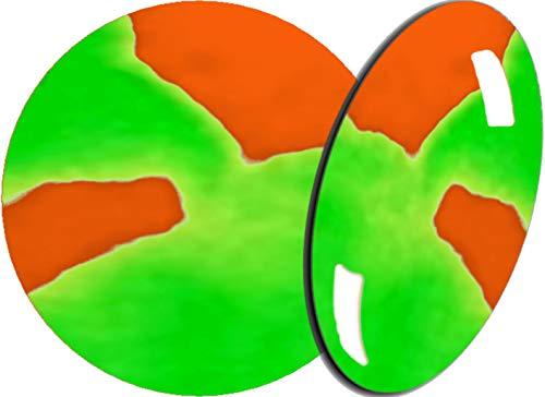 De 2 Färbiges acrylique de poudre 5 g, 2tones-17 Orange Fluo/Vert Fluo – envyu : # 2T pour la Rapide mais joli Nail Art